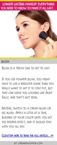 Longer lasting makeup: Everything you need to know to make it all last... - Blush