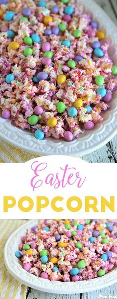 Easter Popcorn is the perfect compromise between a sweet or savory snack to enjoy while celebrating the holiday. The recipe is quite easy, and kids will enjoy helping.