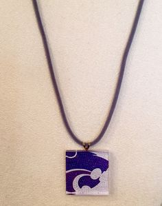 K State Necklace on Grey Cord, $16.50