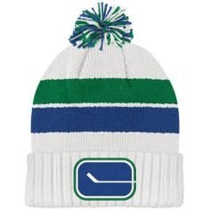 NHL Team Classics Cuffed Knit Hat With Pom, Vancouver Canucks, One Size Fits All Reebok. $17.99