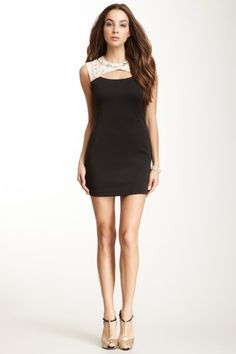 Gracia Crew Neck Beaded Colorblock Dress by Dress To The Nines on @HauteLook...I'm in love with this!