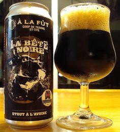 La Bête Noire - À La Fût via craftbeerquebec.ca  #bièreduquébec #bière #microbrasserie #craftbeer #drinkcraft #stout #alafut #boirelocal #craftbeerqc #beer #beerreview