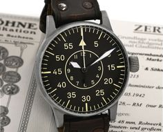 Lange & Sohne Vintage B-Uhr Type B --- Five manufacturers – four German and one Swiss – supplied the B-Uhren. In Germany, A. Lange & Söhne, Wempe, Lacher & Company/Durowe (Laco), and Walter Storz (Stowa) produced the watch.
