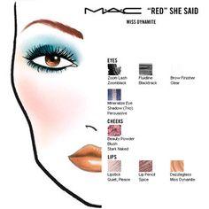 """lapinturera - Blog de cosmética, maquillaje y belleza.: De face-chart: Miss Dynamite, de la colección """"Red she said"""""""