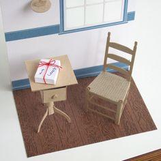 Shaker side table – free download / シェーカー・サイドテーブル https://onetosixteen.com/2016/06/17/shaker-side-table-シェーカー・サイドテーブル/ #papermodel #onetosixteen