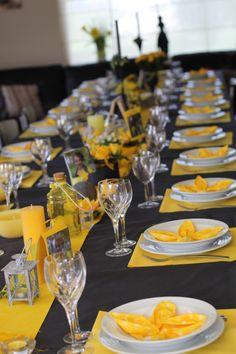 Feesttafel in gele kleur
