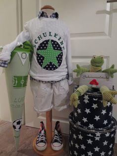 SCHULKIND Shirt ★ 122/128 ★ STERN XXL ★ Einschulung Unikat ★ grün DAWANDA in Kleidung & Accessoires, Kindermode, Schuhe & Access., Mode für Jungen | eBay