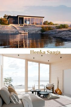Honka log home and cabin kits are the perfect choice when you're looking for an easy and effective way to build a healthy and ecological log home. Cabin Kits, Wood Architecture, Glass Facades, Log Cabins, Stunning View, Log Homes, Scandinavian Design, Entrance, Pergola