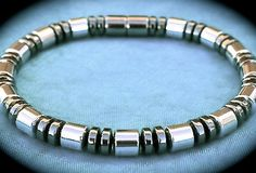 Men's Magnetic Bracelet or Necklace Sleek by StellaMagnetica
