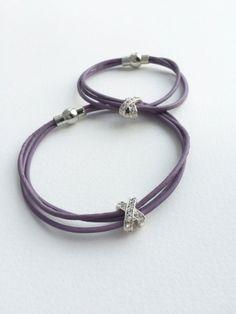 Mommy & Me Leather Bracelet Set - Leather Bracelet Sets -...