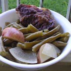 "Staff Writer Devon Turchan's favorite: Slow Cooker Green Beans, Ham and Potatoes. ""My family's favorite. A depression-era favorite, Ham and Green Beans. It's somehow comforting in the winter but refreshing in the warmer months. Enjoy!"""
