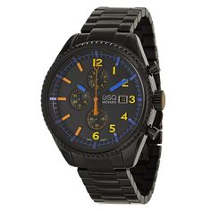 ESQ by Movado Men's 07301452 'Catalyst' Black Stainless Steel Chronograph Watch | Overstock.com Shopping - The Best Deals on ESQ Men's Watches