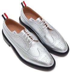 Thom Browne Silver Wingtips S/S 2013