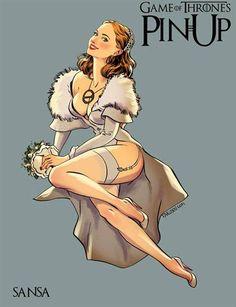 O artista russo Andrew Tarusov ilustrou as personagens femininas de Game of Thrones de forma ainda mais sensual, recriando cada uma delas no famoso estilo pin-up dos anos 40