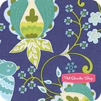 WESTMINSTER--Little Azalea Dark Blue Bird of Paradise YardageSKU