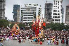 Ganesh visarjan in Mumbai.