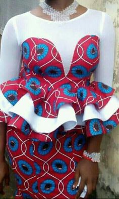 How do you want your ankara blessings to come? Ankara's prints and fabrics are really a blessing to mankind. The ankara styles you will be seeing are so sweet and lovely. Modern African Print Dresses, African Lace Styles, African Lace Dresses, African Traditional Dresses, African Dresses For Women, African Attire, Ankara Styles, African Style, African Outfits