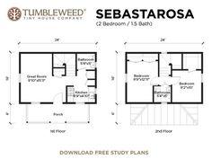 Tumbleweed tiny houses -- Sebastarosa Plan (2 BR, 1.5 BA)