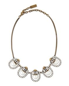 Lyst - Auden Lana Crystal-pearl-station Necklace in Metallic - Save 56%