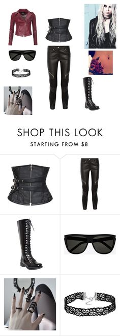 """""""Rocker Chic"""" by fashionmadness13 ❤ liked on Polyvore featuring Givenchy, Yves Saint Laurent, Barbour International, rockerchic and rockerstyle"""