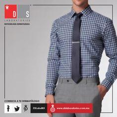 ¿Tienes un evento hoy? Te dejamos un #DSTip: A la hora de elegir una corbata adecuada, el diseño y estampado debe ir siempre en contraste con la camisa elegida previamente. El largo de la corbata jamás debe sobrepasar el cinturón. Shirt Dress, Mens Tops, Shirts, Dresses, Fashion, Self Care, Ties, Elegant, Men