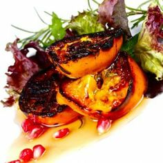 Charred Persimmon Salad