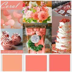 Paleta de cores para madrinhas - Coral
