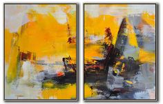 Set of 2 Contemporary Art Art-CZ Art Design(Celine Ziang Art) Abstract Art Painting, Art Painting, Abstract Artists, Abstract Painting, Painting, Abstract Wall Art, Art, Abstract, Contemporary Art