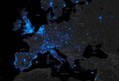 heat map of cycling in Europe