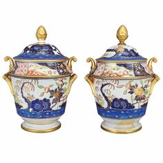 Pair of English Porcelain Fruit Coolers, Early 19th century - Doyle New York