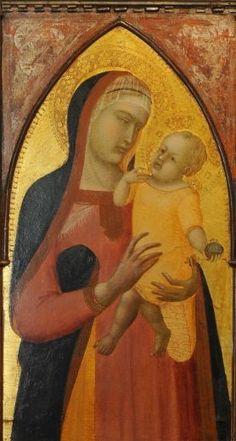 Pietro Lorenzetti - Madonna con Bambino (dettaglio Polittico di San Giusto) - Pinacoteca Nazionale Siena