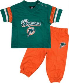 Miami Dolphins Football Jersey & Pant Set- Loving the outfit!!