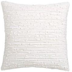 white textured throw pillow