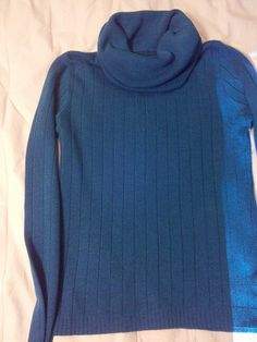 Blue cowl neck sweater (37)