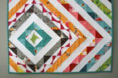 FMFFTW--mini quilt created by Ashley of Film in the Fridge.  Just gorgeous and created entirely with scraps.