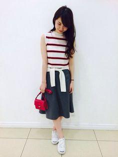 Mila Owen|natsuko yamadaさんのスカート「ディッキーズSK(Mila Owen|ミラ オーウェン)」を使ったコーディネート