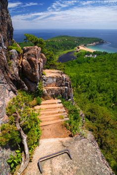 Joe's Guide to Acadia National Park - A wonderfully unhindered view of Sand Beach in the distance. The Beehive photo (Acadia National Park) -- © 2013 Joe Braun Photography