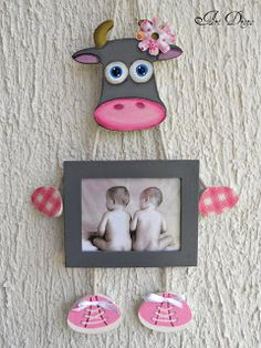 Felt Diy, Felt Crafts, Wood Crafts, Diy And Crafts, Paper Crafts, Photo Frame Decoration, Photo Frame Design, Clay Art Projects, Wooden Picture Frames