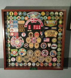 Eagle Scout Shadow Box shows all the work the scout does throughout his scouting career my father makes them for our troop a lot of work to show what we do! This is mine has label on bottom with troop number and eagle scout number