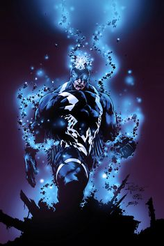 Black Bolt - colors by gabcontreras King of the Inhuman Marvel Comics Inhumans Comics, Marvel Comics Art, Marvel Heroes, Anime Comics, Stan Lee, Marvel Comic Character, Comic Book Characters, Marvel Characters, Jack Kirby