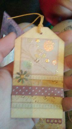 Tags mini vintage journal