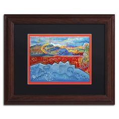 "Trademark Art ""Arrowhead Esplande"" by Lowell S.V. Devin Framed Painting Print in Black Mat Size: 11"" H x 14"" W x 0.5"" D"