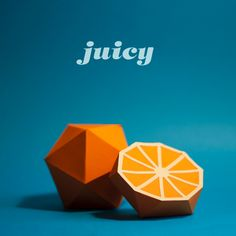 I like how the text is fluid and flow-y, but the fruit itself is geometric and sharp Diy Paper, Paper Crafts, Paper Fruit, Origami, Orange Fruit, Name Cards, Handmade Design, Paper Design, Decoration