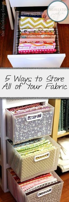 5 Ways to Store All of Your Fabric| Fabric Storage, How to Store Fabric, Storing Fabric, Craft Room Organization, Organization 101, Home Organization and Tips and Tricks, Organize Your Craft Room