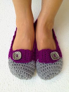 crochet womens slippers