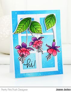 A Kept Life: Pretty Pink Posh May Blog Hop! #window #flower #filmstrip #fuchsia #card #cardmaking #papercrafting #stamp #stamping #die #stitched #prettypinkposh
