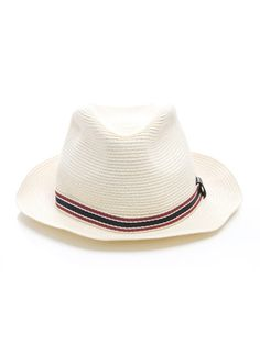 Gucci Straw panama hat Neutral panama-style hat trimmed with Gucci s  signature stripe and logo c792395a145