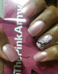 Pink & cherry blossom nails.