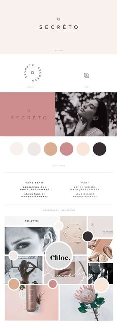 beautiful feminine branding with a pale pink color palette, gorgeous sans serif font and minimalistic logo design Logo Design, Brand Identity Design, Branding Design, Logo Inspiration, Police Logo, Couleur Rose Pale, Marca Personal, Studio Logo, Make Design