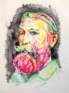 <img> Aaron Smith mono-print at Sloan Fine Art www. Print, Art Photography, Fine Art, Beard Art, Painter, Painting, Art, Monoprint, Artsy